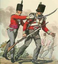 A British Soldier carrying the 'Brown Bess'